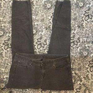 GAP premium skinny grey corduroy jeans sz10 W35L31